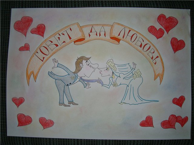 Плакат на свадьбу рисунки